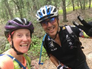 Jan & Wendy on the trails