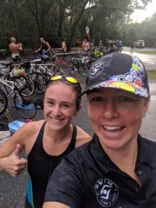 Stephanie's first triathlon at LLSP